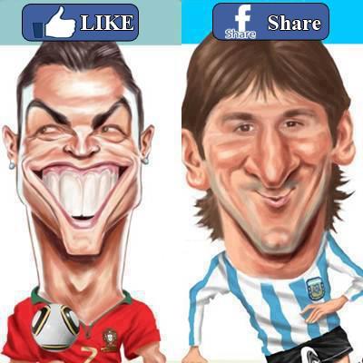Caricaturas 2012 2013 De Messi Y Ronaldo   Jpeg